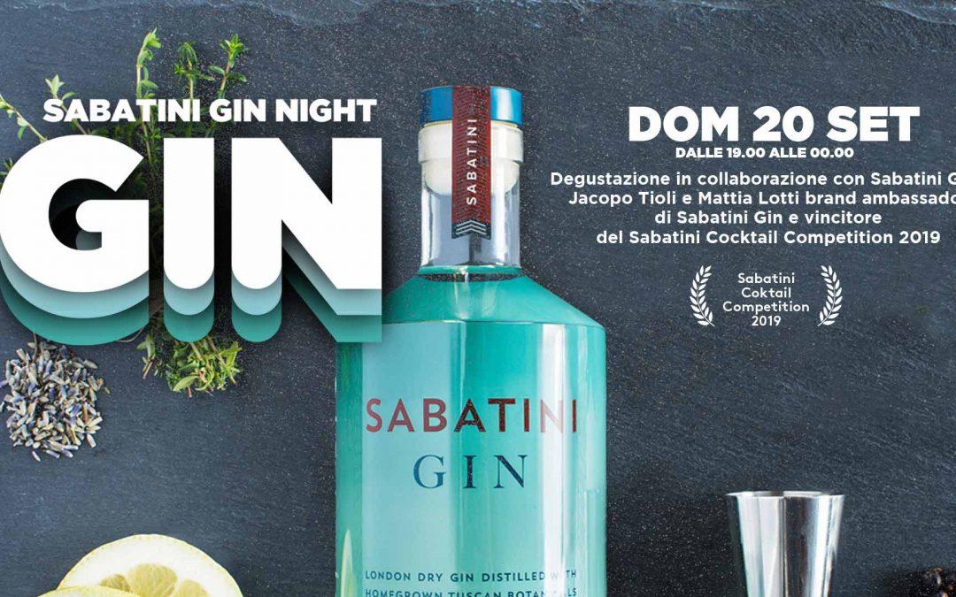 SABATO GIN NIGHT – Degustazione Sabatini Gin